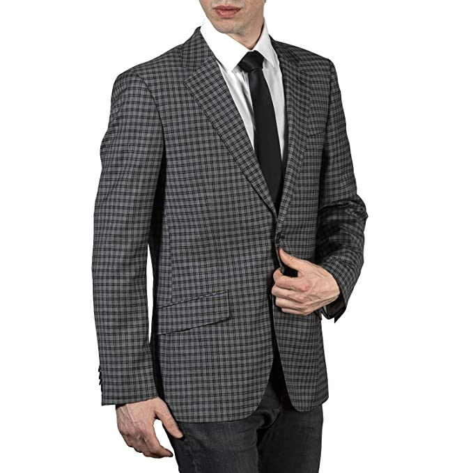 Men's Vintage Style Suits, Classic Suits Adam Baker Mens Single Breasted 100% Wool Ultra Slim Fit Blazer/Sport Coat $99.99 AT vintagedancer.com