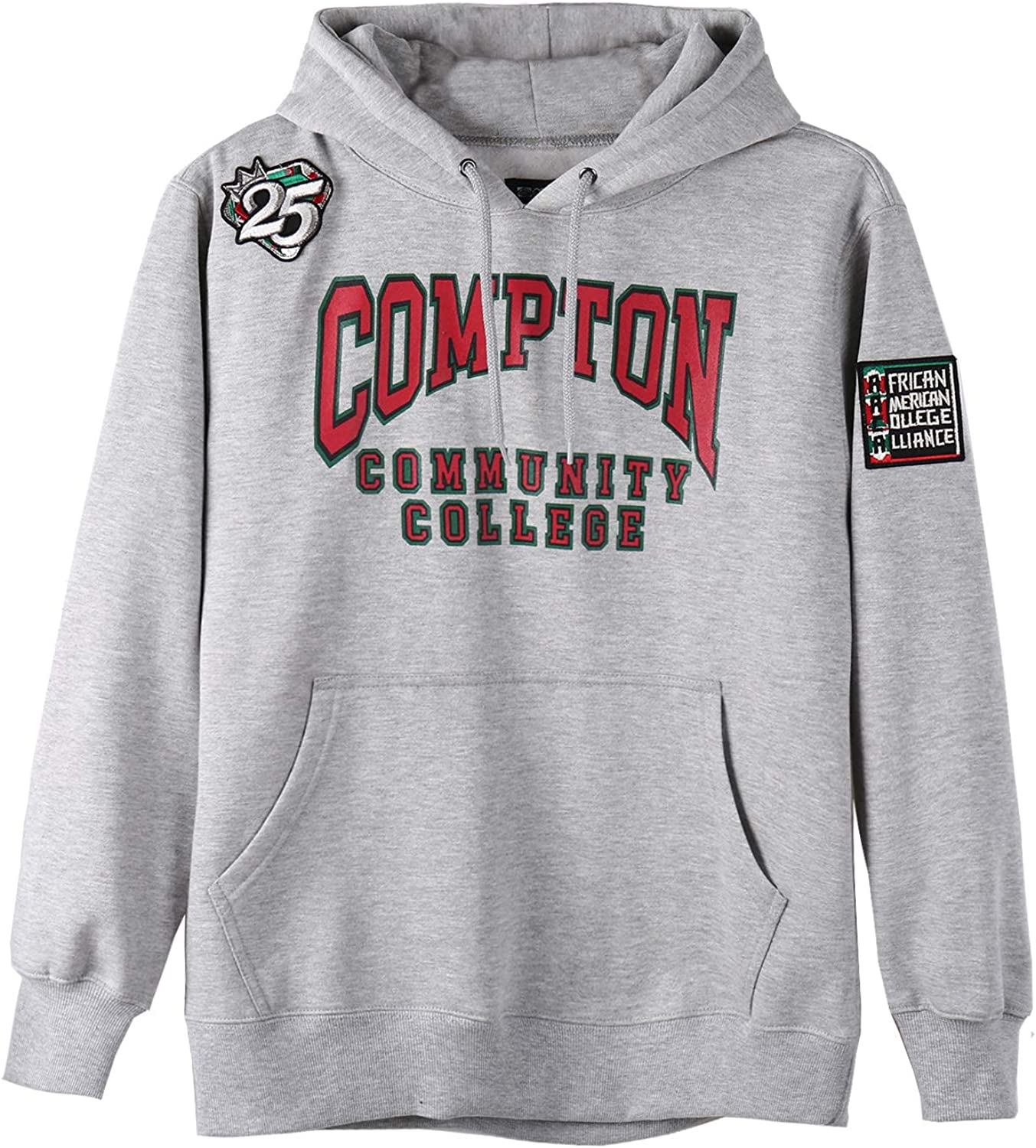 AACA Mens Cotton Pullover Fleece Hooded Sweatshirt Compton Community College