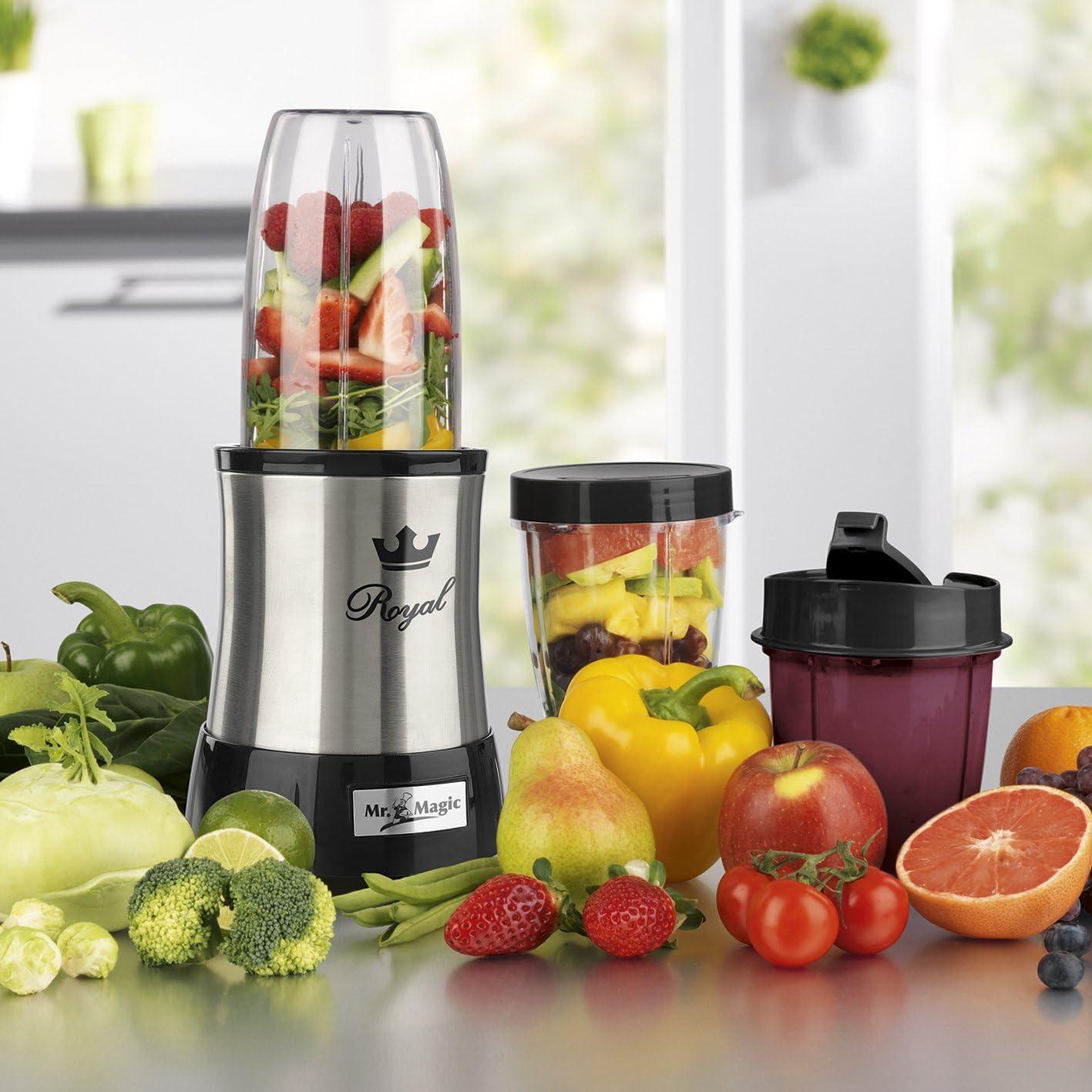 Gourmetmaxx 09833 Batidora Nutrición Profesional Acero Inoxidable, 700 Vatio, Eléctrico Mezclador, Perfecto para Cóctel y Batidos: Amazon.es: Hogar