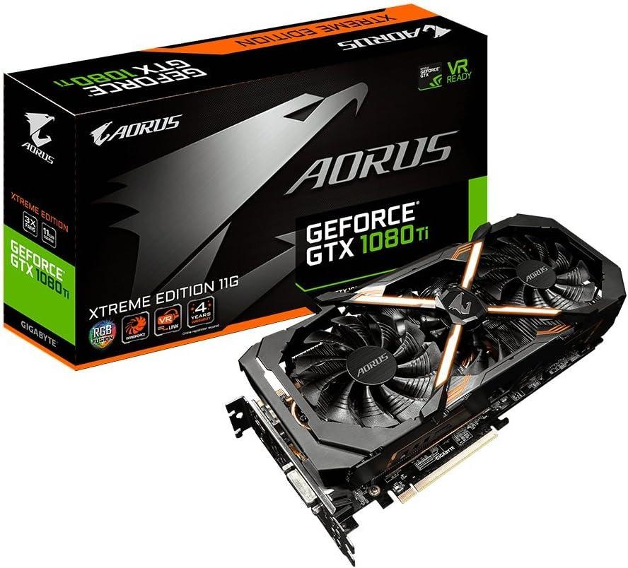 Gigabyte AORUS GeForce GTX 1080 Ti Xtreme Edition 11GB Graphic Cards GV-N108TAORUS X-11GD