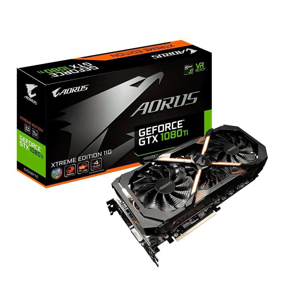 Gigabyte Aorus Ge Force Gtx 1080 Ti Xtreme Edition 11 Gb Graphic Cards Gv N108 Taorus X 11 Gd by Gigabyte