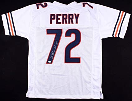 c8d54dc6607 Image Unavailable. Image not available for. Color: William Perry Signed  Jersey - Custom) - Coa! - JSA Certified - Autographed NFL