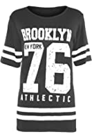 Kids USA American Varsity Baseball Slim Fit Brooklyn 76 Cap Sleeve T Shirt Top