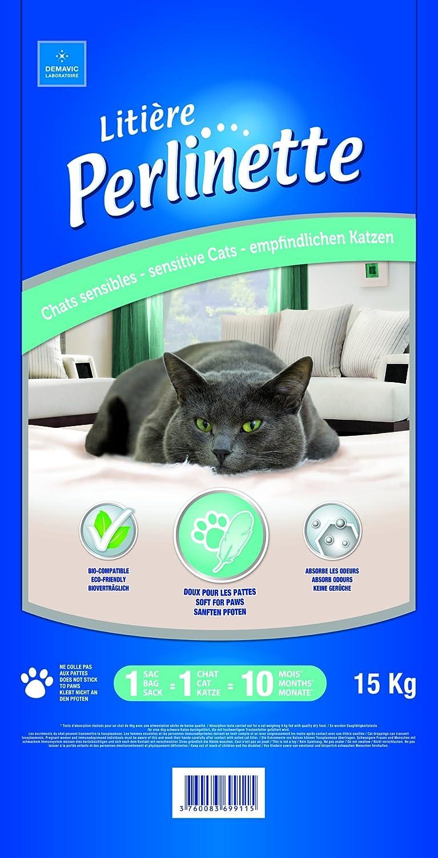 Perlinette silica-gel gato basura 15 kg: Amazon.es: Productos para mascotas