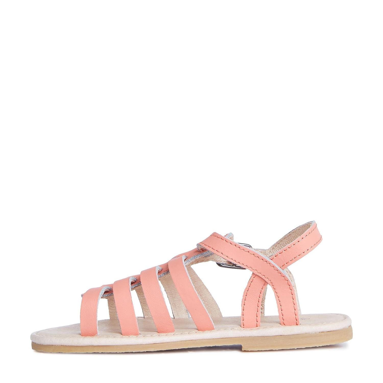 6b14d5534aa9b Bout Chou - Spartiates - Bébé Fille - Taille   22 - Couleur   Corail   Amazon.fr  Chaussures et Sacs