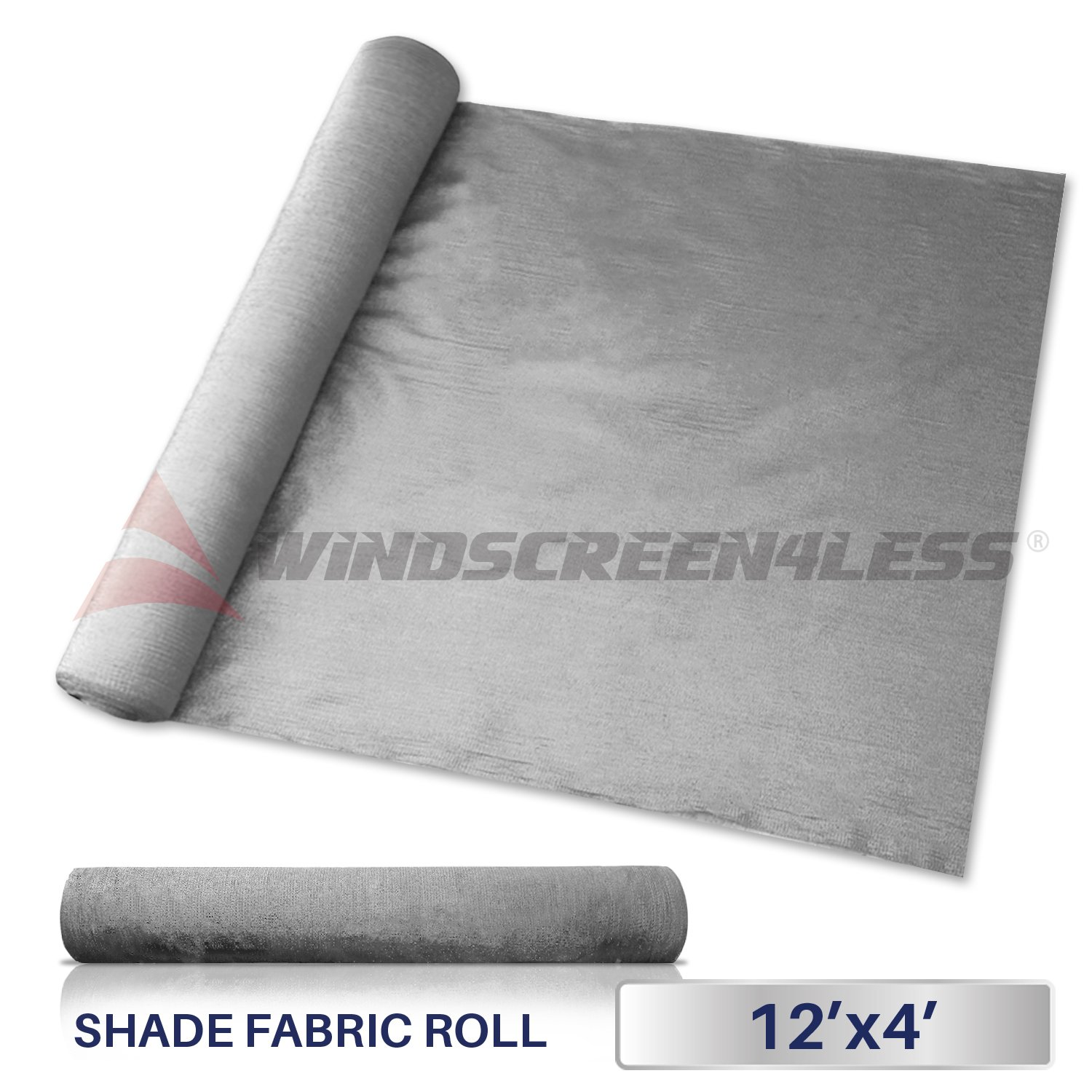 Windscreen4less Light Grey Sunblock Shade Cloth,95% UV Block Shade Fabric Roll 12ft x 4ft