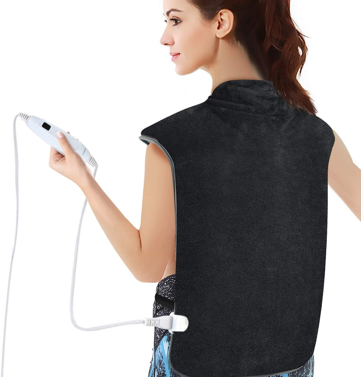 """Heating Pad for for Back and Shoulder Pain,MOICO Heating Wrap for Soothing Muscle Pain and Tension Relief Therapy with 3 Hour Auto Off, 7,Temperature Settings,XXX-Large Electric Heating Pad 17"""" x 33"""