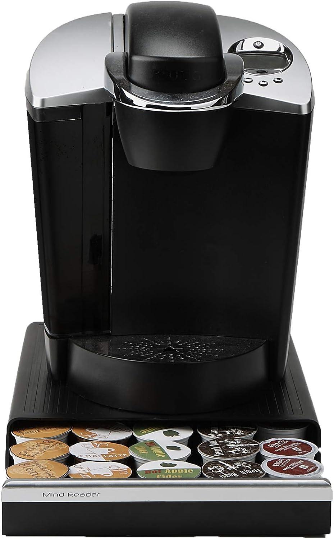 Mind Reader Coffee Pod Storage Drawer for K-Cups, Verismo, Dolce Gusto, Holds 30 K-Cups, 35 CBTL, Verismo, Dolce Gusto, Black