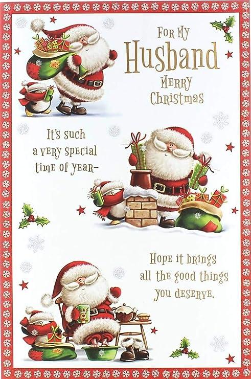 Cards Galore Online Tarjeta de Navidad para Marido - Vino ...