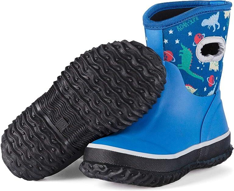 KomForme Stivali da Piaggia Bambini 3D in Gomma Antiscivolo Morbido ed Elegante