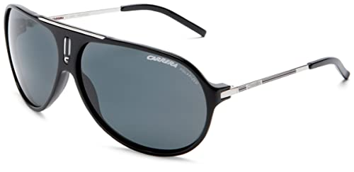 Carrera Hot Aviator Sunglasses,Black And Palladium Frame Grey Lens,one size e00425b2262e
