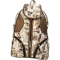 QOOQLE Paris Brown Color Waterproof Women's Backpack
