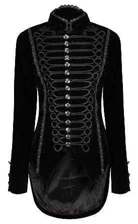 Amazon Veste Velours Goth Gothique Pie Femme Ro De En Queue Rox vqwH05