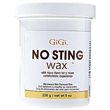 GiGi No Sting Wax with Kava Kava – Microwave Hair Removal Wax, 8 Ounces