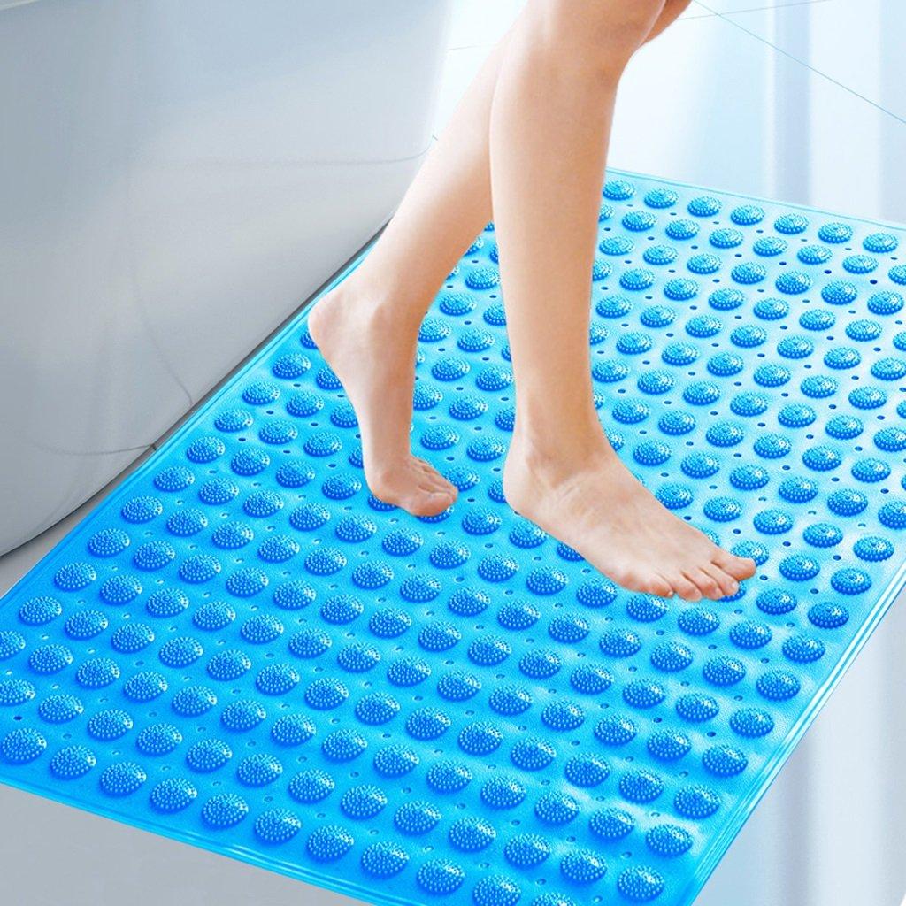 Liling 58 * 90cm Grande Taille Salle de Bains Anti-dérapant Tapis de Bain Salle de Douche avec Tapis de Sol de Tapis de Sol Sucker Pad (Color : Blue)