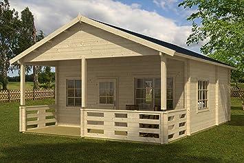Han – Cabaña de madera de abeto de color natural para jardín de GartenPro: Amazon.es: Jardín