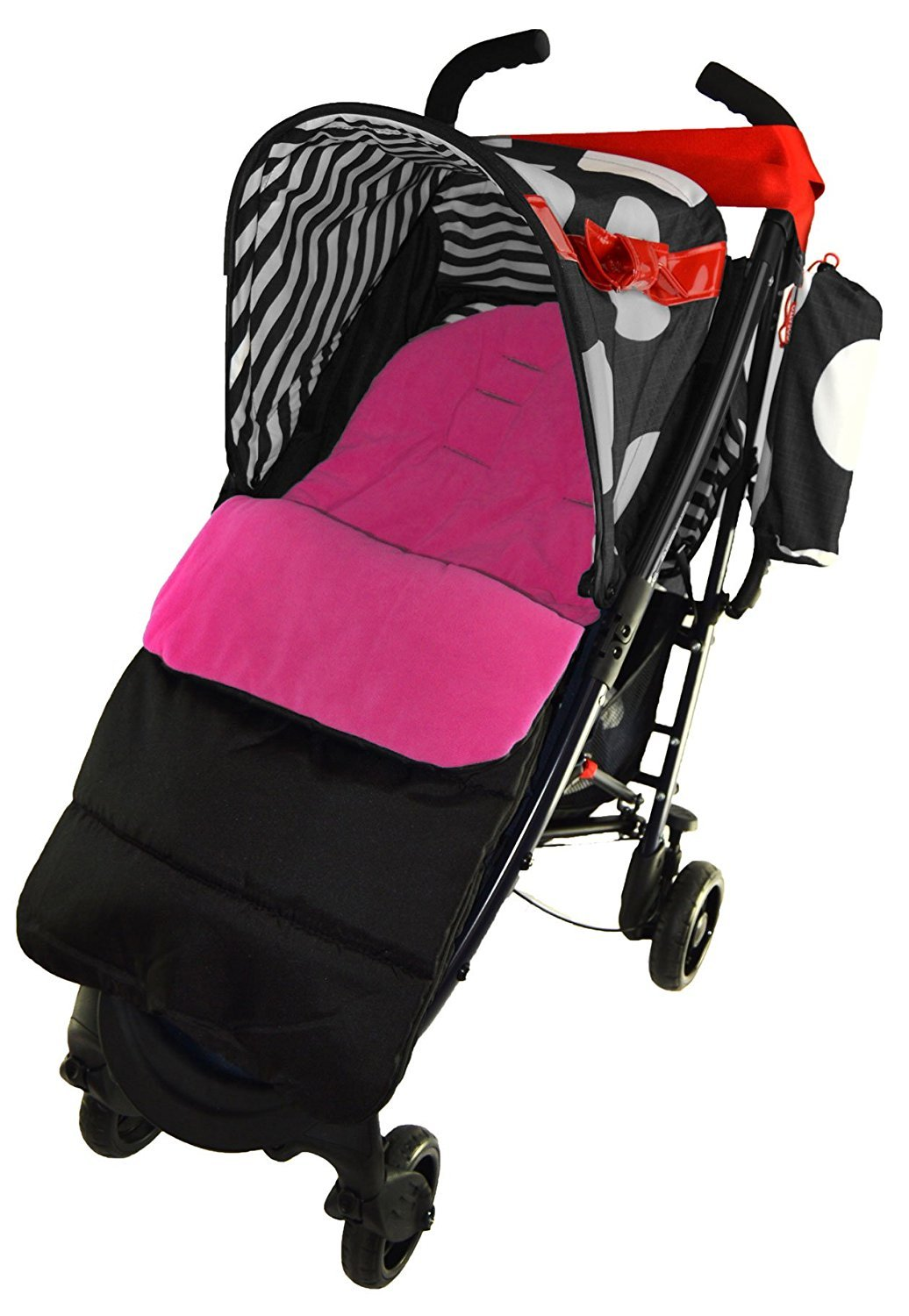Footmuff//Cosy Toes Compatible with iCandy Strawberry Pushchair Pink Rose