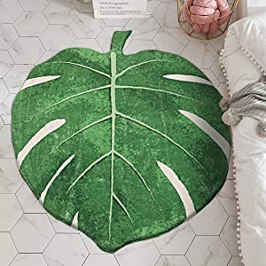 """LIVEBOX Play Mat, Faux Wool Kids Play Area Rugs Green Leaf 35"""" × 44"""" Non-Slip Childrens Carpet for Living Room Bedroom Decoration Playroom Nursery 2019 Best Shower Gift"""