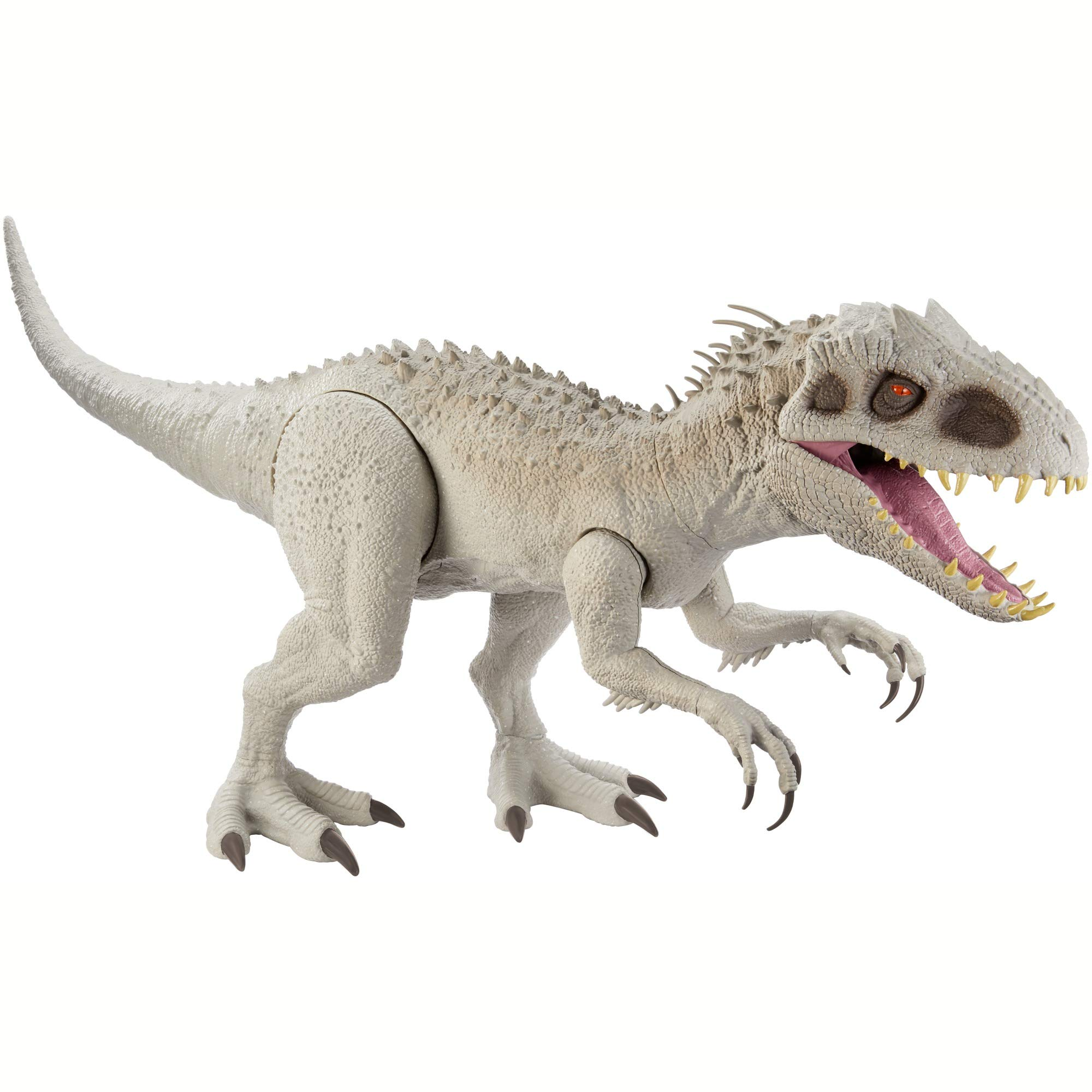 Jurassic World Camp Cretaceous Super Colossal Indominus Rex 18-in High & 3.5 Ft Long, Movable Arms & Legs, Swallows 20 Mini Action Figures, 4 Years Old & Up