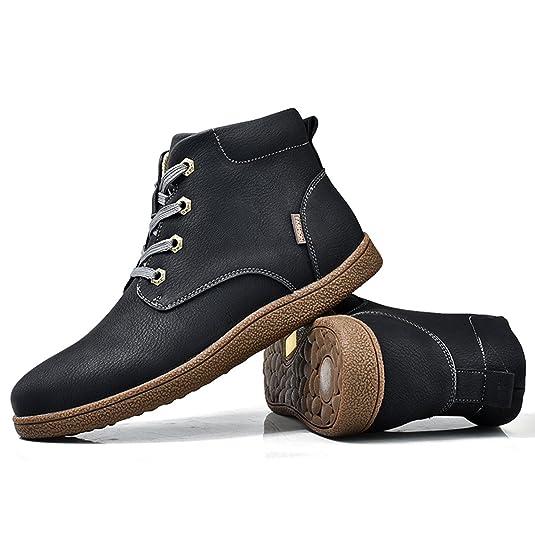 Botines Desert Hombre Invierno, Gracosy cuero Zapatos Botines de gamuza Botas de tobillo Botas Casuales desierto de ante Zapatos Deportes al aire libre ...