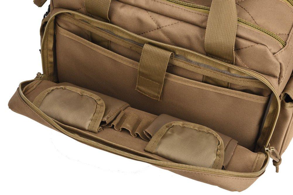 REEBOW TACTICAL Tactical Gun Range Bag Deluxe Pistol Shooting Range Duffle Bags Black by REEBOW TACTICAL (Image #9)