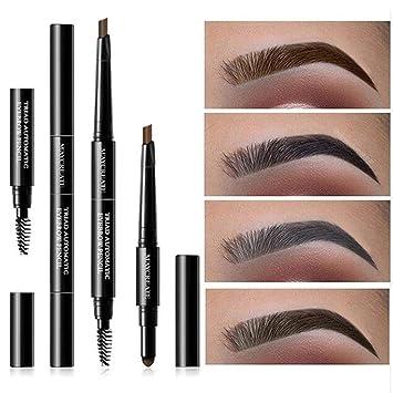 cb0accbe214f Amazon.com : Beautyonline 3 in 1 Eyebrow Makeup Kit Eyebrow Powder ...