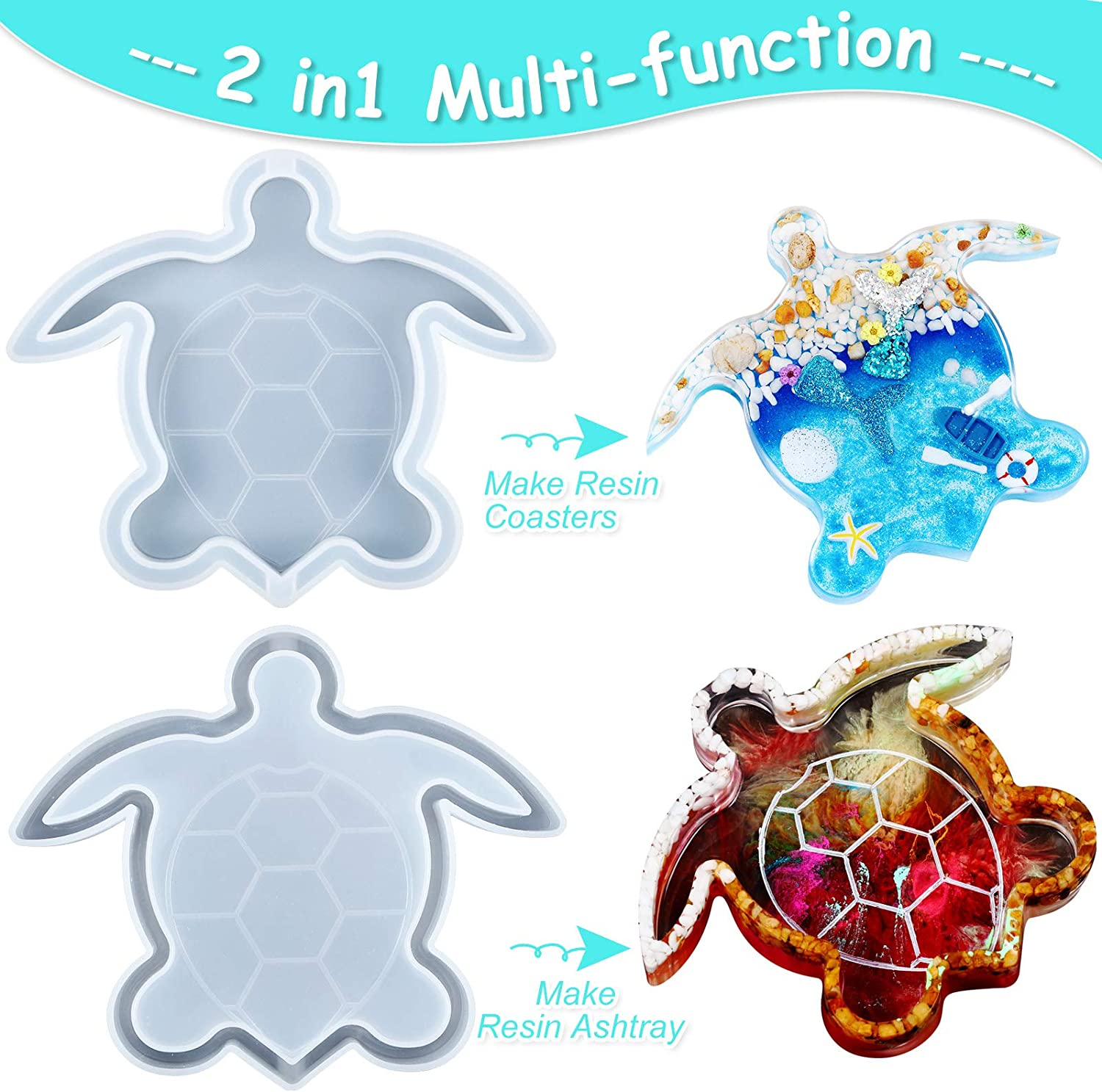 Resin Functional Art Turtle Jewelry Tray
