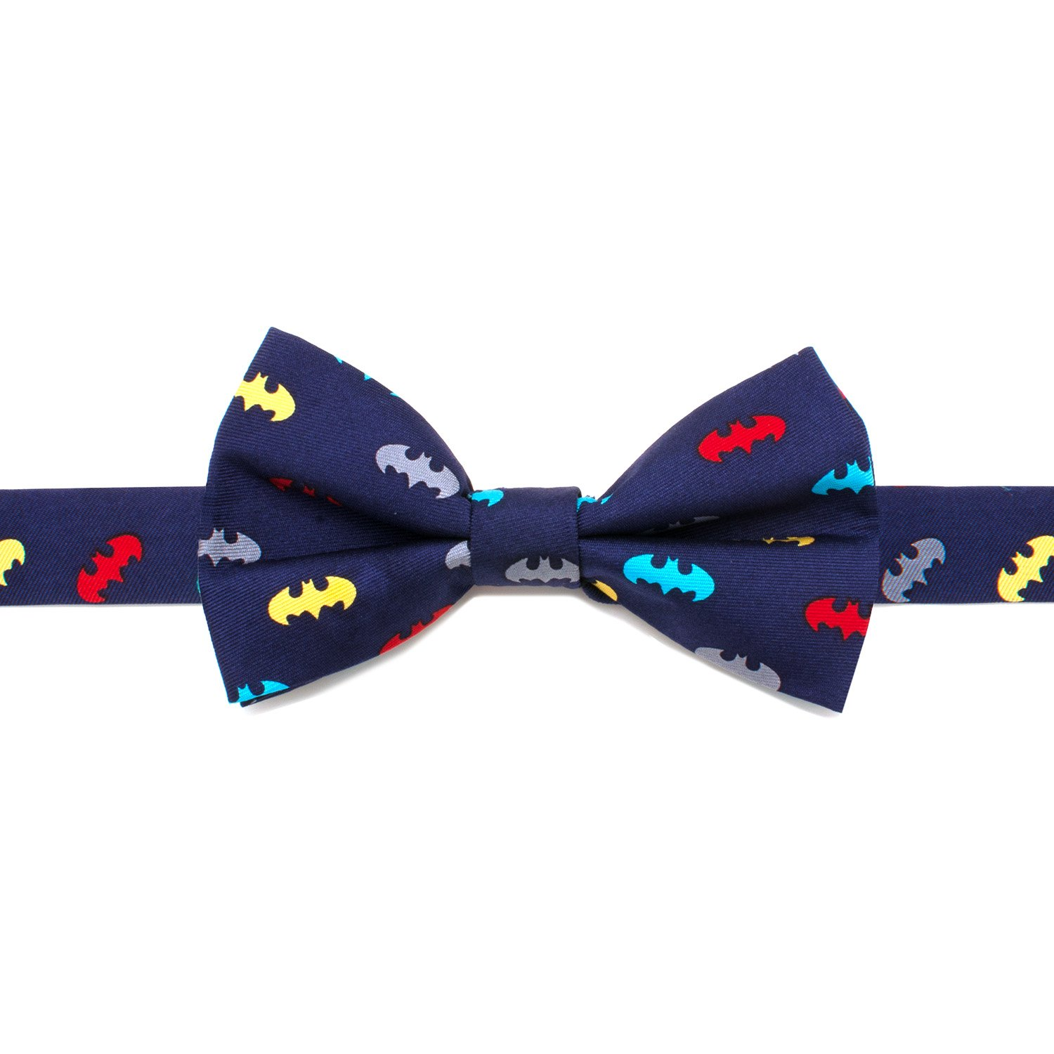 DC Comics Batman Big Boys' Silk Bow Tie, Officially Licensed