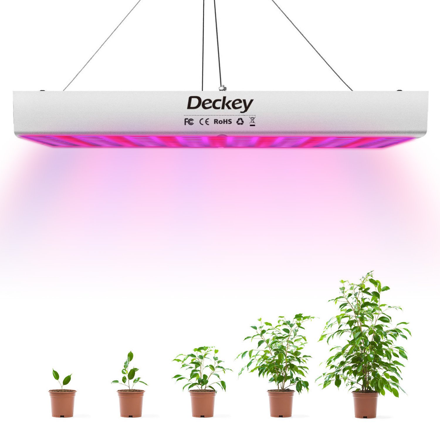 Amazon deckey 225led grow light hanging full spectrum plant amazon deckey 225led grow light hanging full spectrum plant grow lamp with uv ir for greenhouse hydroponic indoor plants flower seed growth 10w arubaitofo Choice Image