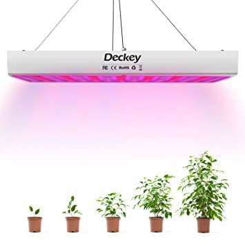 Deckey 225LED Grow Light, Hanging Full Spectrum Plant Grow Lamp With UV IR  For Greenhouse