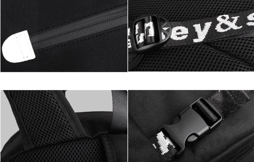 Unisex Laptop Backpack Daypack Fashion School Backpack Bookbag College Rucksack Travel Backpack FLYMEI Anime Luminous Backpack with USB Charging Port and Anti-theft Lock for Boys and Girls Black