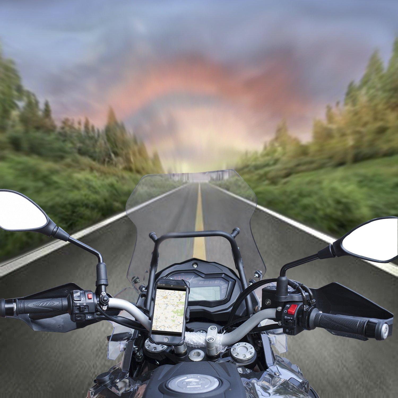 Soporte de Móvil Deportiva para Bicicletas y Motos Universal IZUKU de Ultra Estable, con una sujeción perfecta y 360 Rotación para todos los moviles smartes IPHONE5/SE 6 6P 7 7P SAMSUNG HUAWEI (NEGRO)