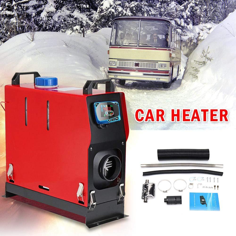 LCD Key Switch Muffler flower205 Air Diesel riscaldatore di parcheggio Houseboat 5KW 12V // 24V Diesel Air Heater Truck Bus Engine