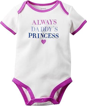 91b42a3140d Amazon.com: Carters Baby Girls Daddys Princess Bodysuit 9 Months ...