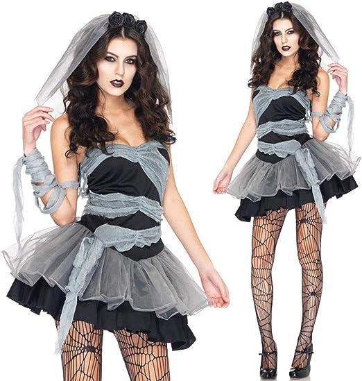 XWQXX Disfraz Disfraz Vestido de Adulto Cadáver de Novia Juego de ...