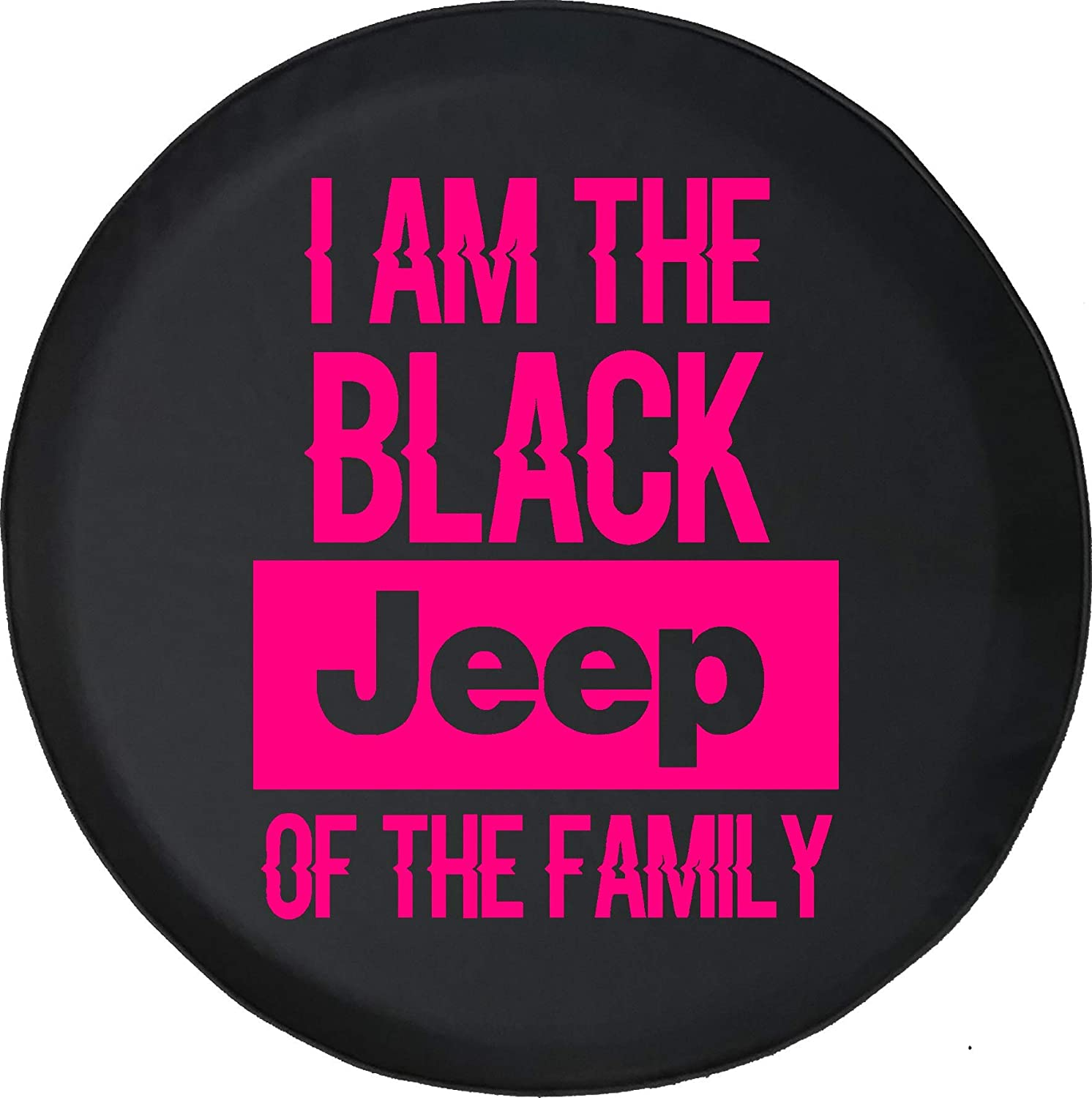 Spare Tire Cover Black Jeep of The Family Fits Jeep Tire Cover or Jeep Wrangler or RV 35 Inch