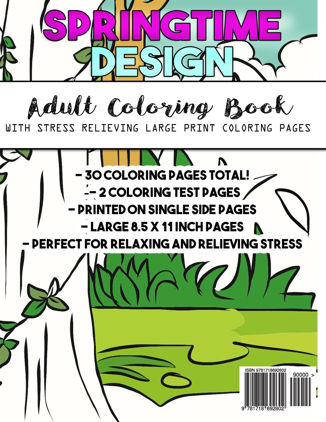 Large Print Coloring Book for Adults: Easy, Creative and Simple ...