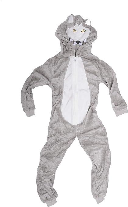 LA VISION Boys Kids Wolf Fleece Onesie Pyjamas Fancy Dress Outfit Age 7 8 9 10 11 12 13