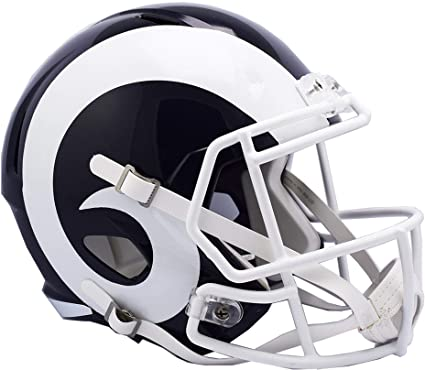 8bbb732d4 Image Unavailable. Image not available for. Color  Sports Memorabilia Riddell  Los Angeles Rams Revolution Speed ...