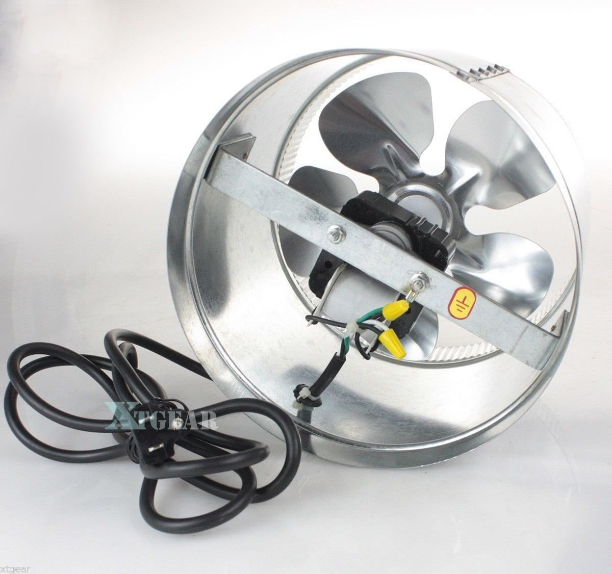 USA Premium Store 10'' Duct Booster Inline Blower Fan Exhaust Vent Air Cooled Hydroponic110V / 60Hz