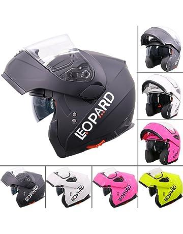 564bb7f4 Leopard LEO-838 Safari Modular DOUBLE SUN VISOR Flip up Front Motorbike  Motorcycle Helmet