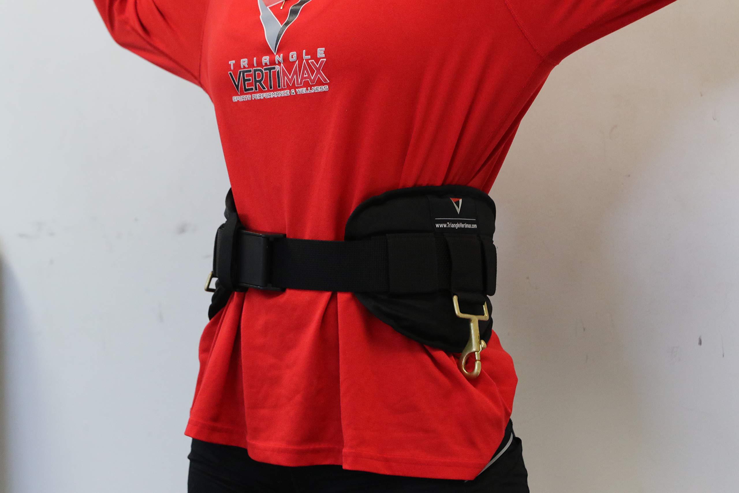 Triangle Sports Performance & Wellness Regular Premium Deluxe Waist Harness for Just Jump Belt, Run Rocket Belt, VertiMax Belt & FieldPower Belt Training Systems - 24'' to 42'' Waist
