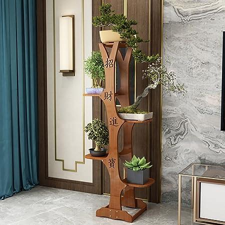 Flower Stand Soporte de Flores de Madera Veranda Bonsai Pergola Forma de árbol Chino, D: Amazon.es: Hogar