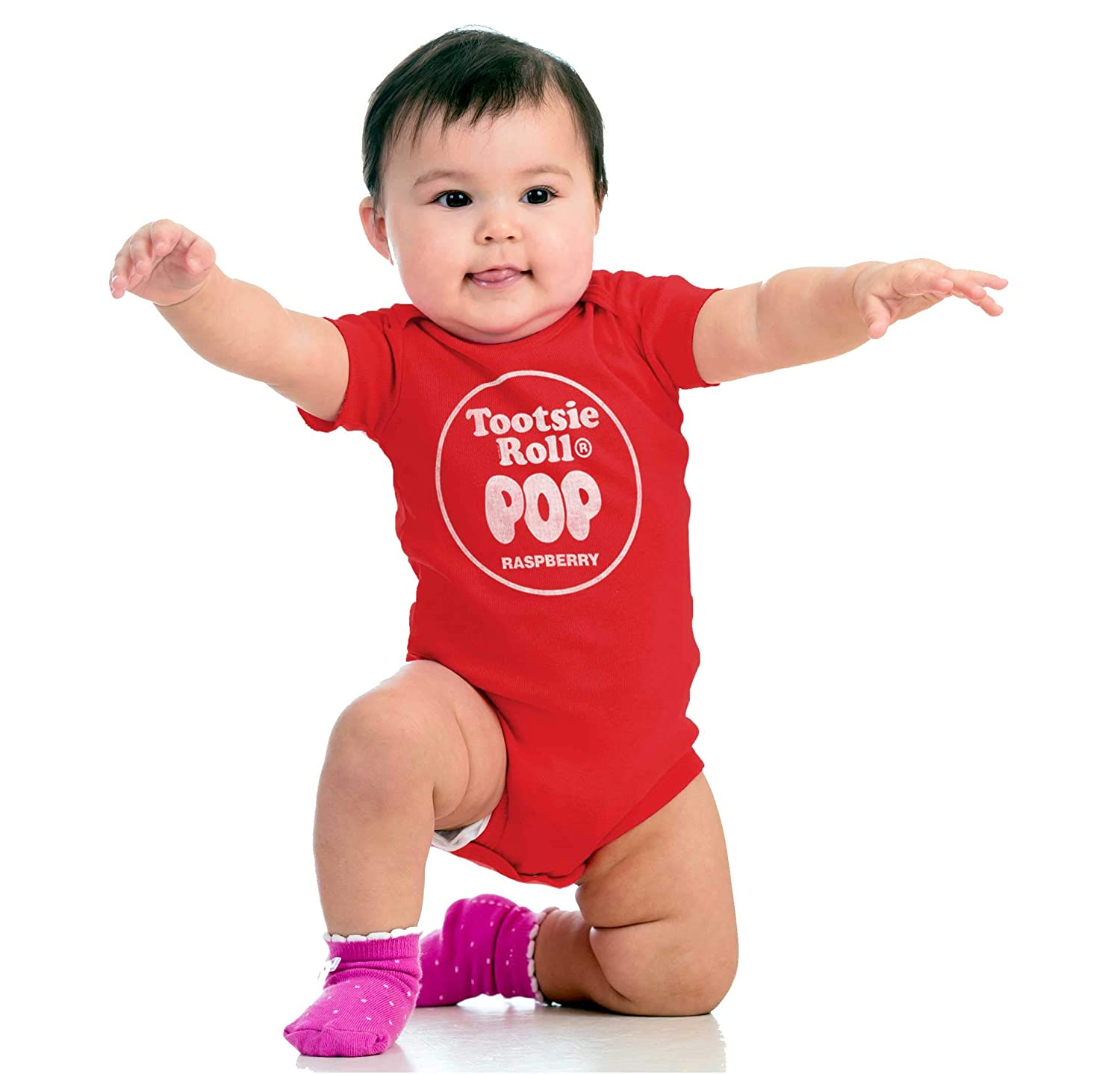 Raspberry Tootsie Roll Vintage Flavored Pop Infant Toddler T Shirt