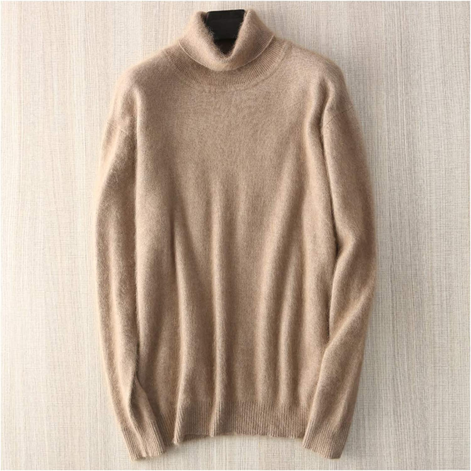 Lugeec Man Jumpers Mink Cashmere Knitted Sweaters Sale Soft