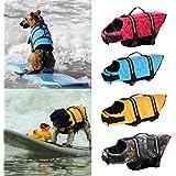 【ノーブランド 品】ペット 犬  ライフジャケット 救命胴衣 安全 安心 速乾性 全4色5サイズ選べる - レッド, XS