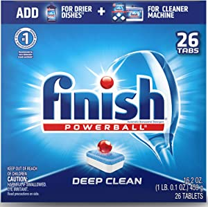 Finish - All in 1-26ct - Dishwasher Detergent - Powerball - Dishwashing Tablets - Dish Tabs - Deep Clean - Fresh Scent