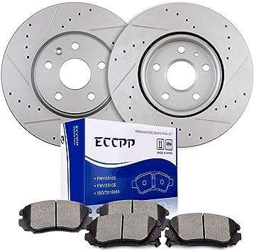 Rear Brake Discs Ceramic Pads For 2010 2011 2012-2017 GMC Terrain 4Pcs//Set