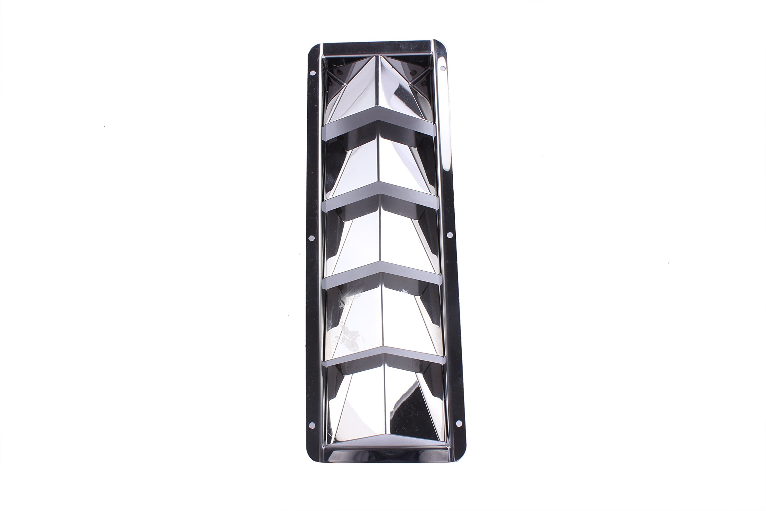 Boat Stainless Steel Louver Vent Boat Marine 5 Slots Vent 12-7/8'' x 4-3/8''