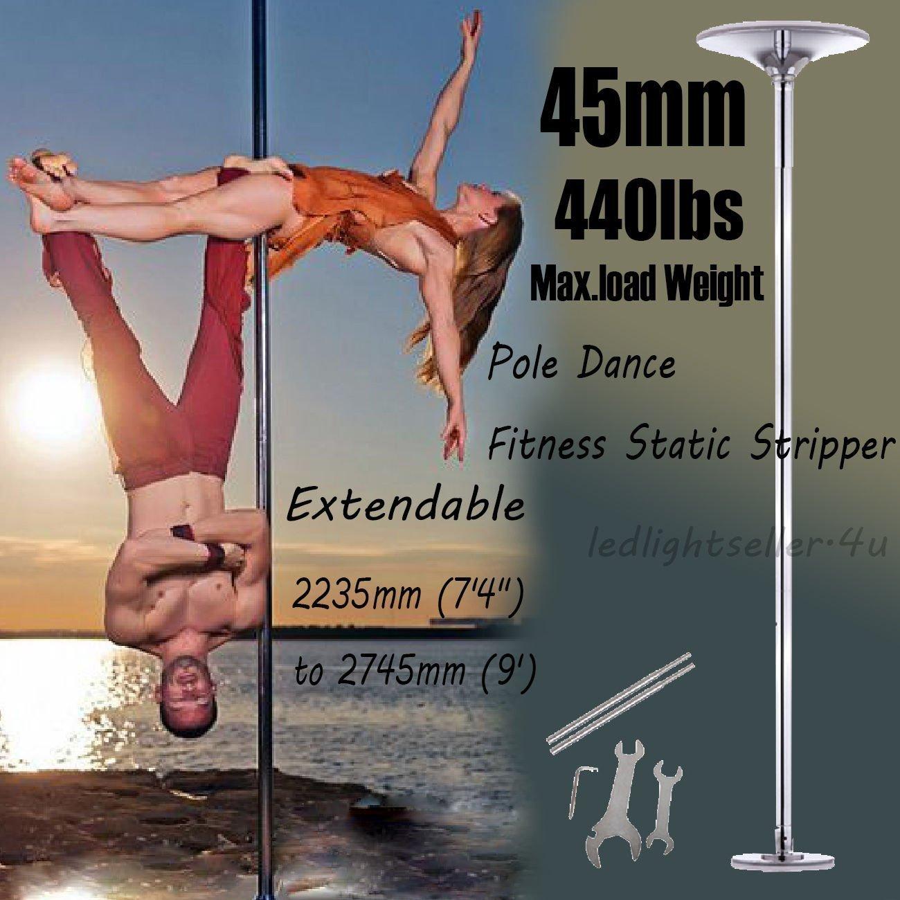 MegaBrandプロフェッショナルエキゾチックフィットネスダンスPole練習ストリッパーDancing Pole 45 mm 9 ft   B00A03ETY0